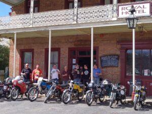 Bultaco boys at the Hill End pub.