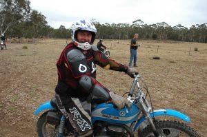 John Somervilleon on his Bultaco Alpina